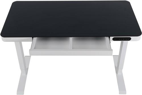 Elektrisch verstelbaar zit/sta bureau compact - Zwart - Wit - Wit