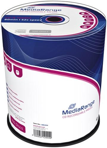 CD-R MediaRange 700MB 80min 52x speed, 100 stuks