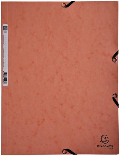 Elastomap Exacompta Aquarel 3-kleps A4 glanskarton roze