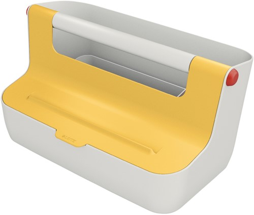 Opbergbox Leitz Cosy draagbaar kunststof geel