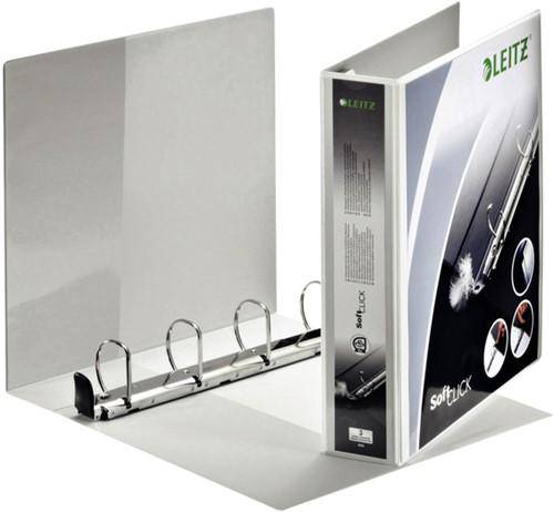Presentatieringband Leitz SoftClick A4 Maxi 4-rings D-mech 40mm wit