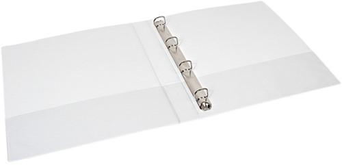 Presentatieringband Quantore A4 4-rings D-mech 20mm wit