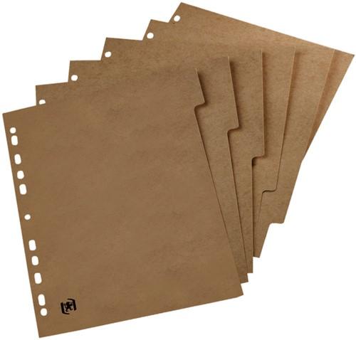 Tabbladen Oxford Touareg 11-gaats 5-delig naturel karton