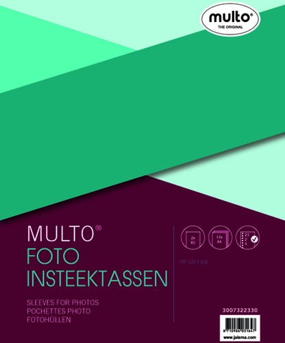 Fototas Multo A4 23R PP 0.12mm nerf 2vakken A5