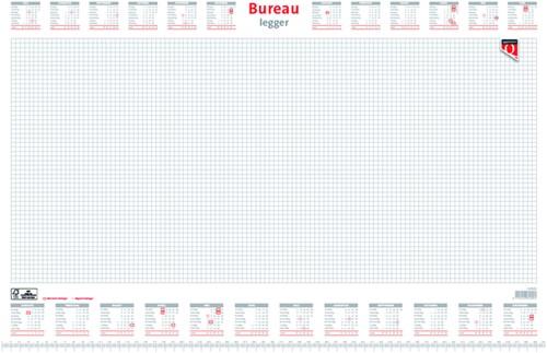 Bureau-onderlegblok 2020 Quantore 56,5X36CM  wit