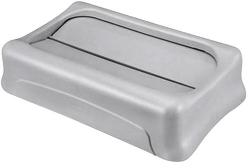 Afvalbakdeksel tuimeldeksel Slim Jim grijs-2
