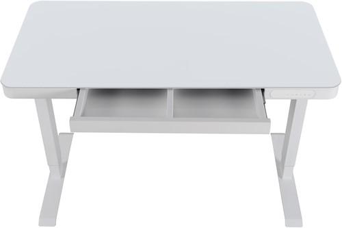 Elektrisch verstelbaar zit/sta bureau compact - Wit - Wit - Wit