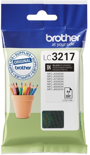 Inktcartridge Brother LC-3217BK zwart