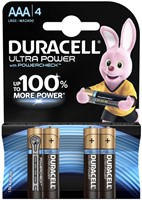 Batterij Duracell Ultra Power 4xAAA