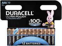 Batterij Duracell Ultra Power 12xAAA alkaline