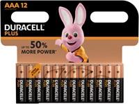 Batterij Duracell Plus Power 12xAAA alkaline