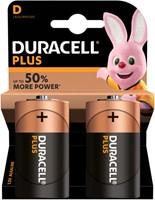 Batterij Duracell Plus Power 2xD MN1300-2