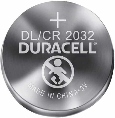 Batterij Duracell knoopcel 2xCR2032 lithium Ø20mm 3V-180mAh-2