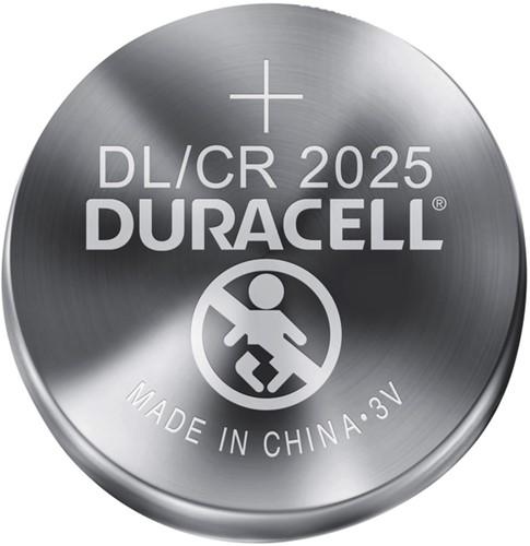 Batterij Duracell knoopcel 2xCR2025 lithium Ø20mm 3V-170mAh-2