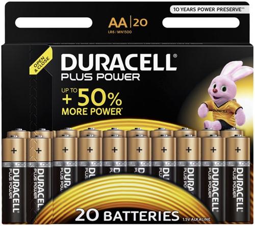 Batterij Duracell Plus Power 20xAA alkaline