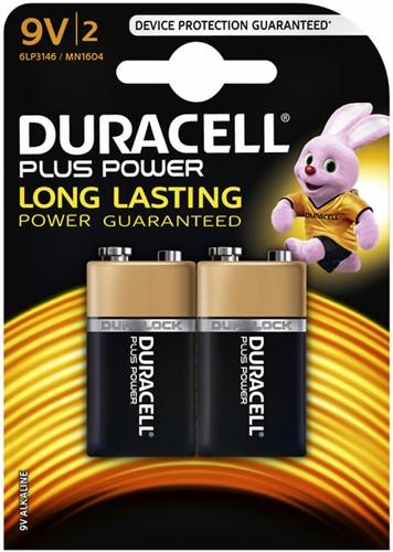 Batterij Duracell Plus Power 2x9Volt MN1604