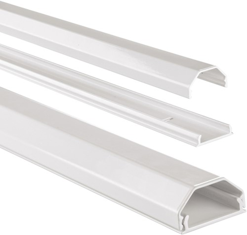 Kabelkanaal Hama hoekig 110/3,3/1,7 cm aluminium wit