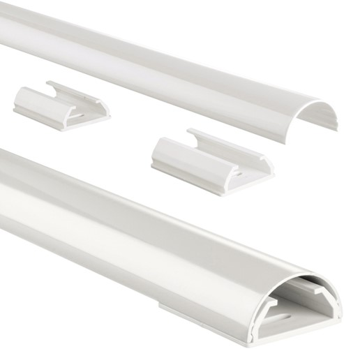 Kabelkanaal Hama halfrond 110/3,3/1,8 cm aluminium wit