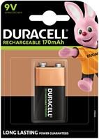 Batterij oplaadbaar Duracell 1x9Volt 170mAh Plus-2