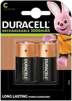 Batterij oplaadbaar Duracell 2xC 3000mAh Plus-2