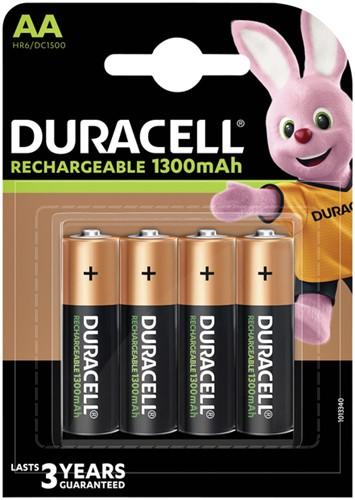 Batterij oplaadbaar Duracell 4xAA 1300mAh Plus-2