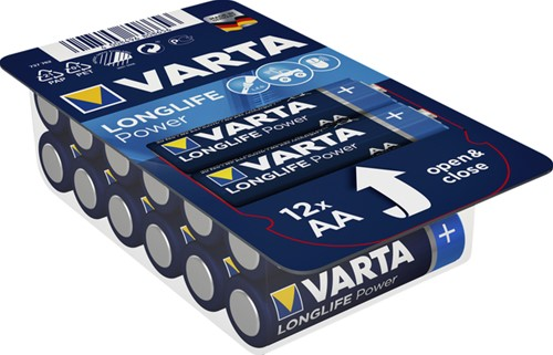 Batterij Varta Longlife Power big box 12xAA