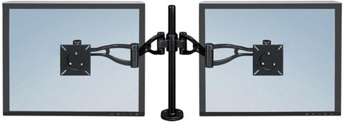 Monitorarm Fellowes Professional Series dubbel zwart