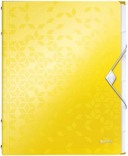 Sorteermap Leitz WOW 6-delig PP geel