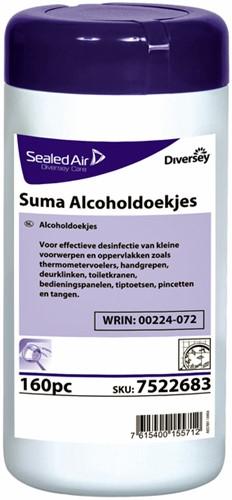 Reinigingsdoekjes Suma met alcohol