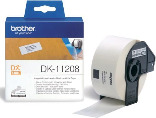 Etiket Brother DK-11208 38x90mm groot adres 400stuks