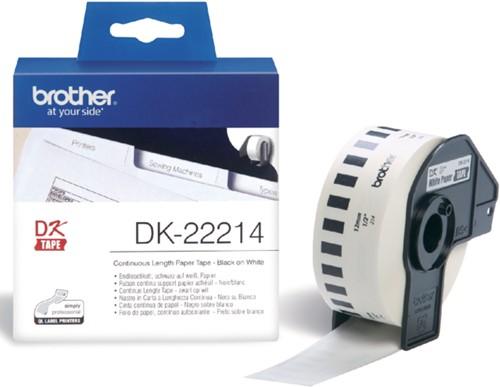 Etiket Brother DK-22214 12mm thermisch 30-meter wit papier