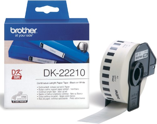 Etiket Brother DK-22210 29mm thermisch 30-meter wit papier