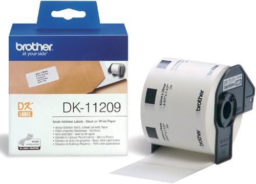 Etiket Brother DK-11209 29x62mm klein adres 800stuks