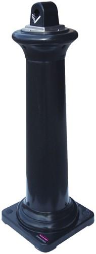 Asbak staand Rubbermaid peukenzuil tuscan zwart-3