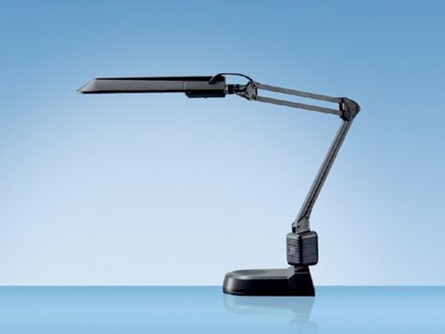 Bureaulamp Hansa met spaarlamp Ecostar zwart