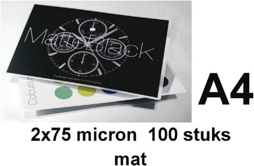 Lamineerhoes GBC A4 2x75micron mat 100stuks