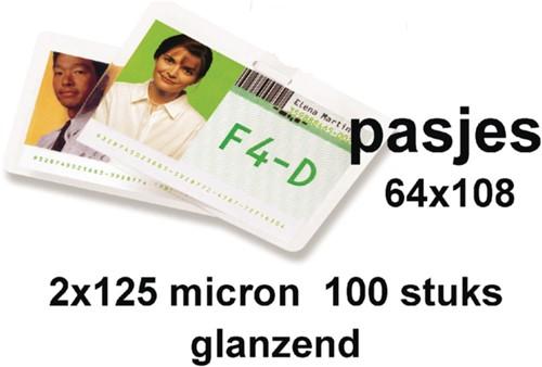 Lamineerhoes GBC bagage label 64x108mm 2x125micron 100stuks