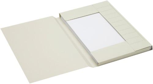 Dossiermap Jalema Secolor folio 3 kleppen 225gr grijs
