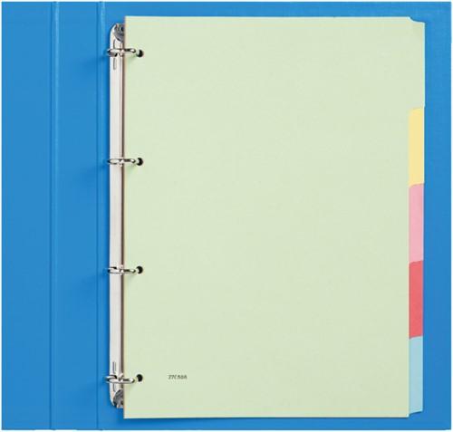 Tabbladen Budget 4-gaats karton 5-delig assorti karton
