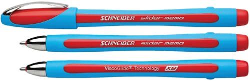 Balpen Schneider Slider Memo rood extra breed