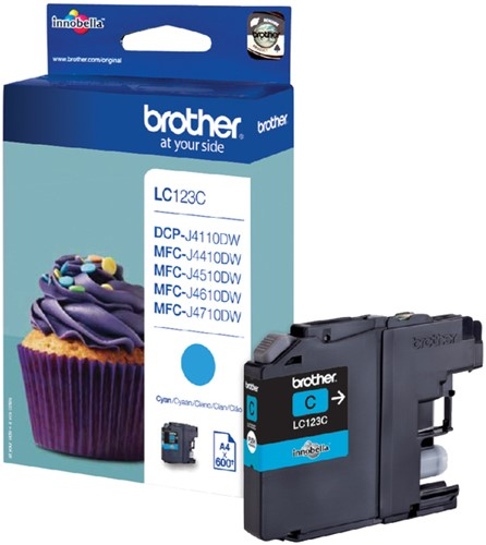 Inktcartridge Brother LC-123C blauw