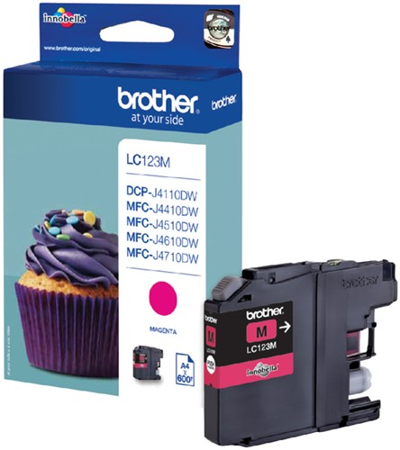 Inktcartridge Brother LC-123M rood