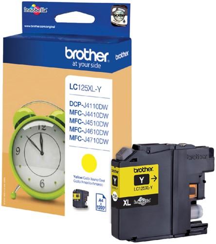 Inktcartridge Brother LC-125XLY geel HC