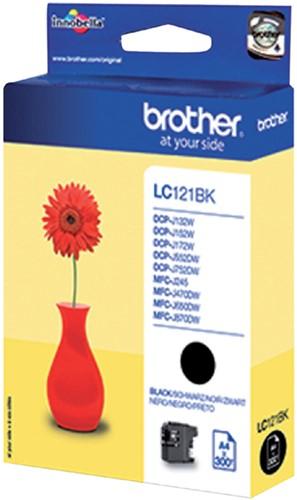 Inktcartridge Brother LC-121BK zwart