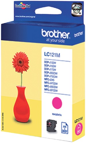 Inktcartridge Brother LC-121M rood