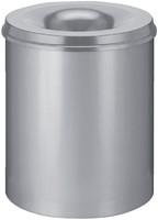 Papierbak met vlamdover Vepabins 80liter grijs-3