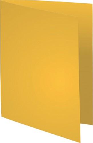 Vouwmap Exacompta Super A4 80gr geel