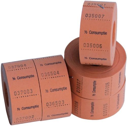 Consumptiebon Combicraft 1/2 consumptie 500 stuks oranje