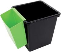Inzetbak voor vierkante tapse papierbak groen-2