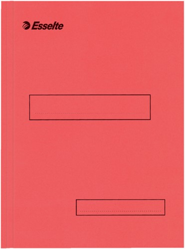 Standaard zichtmap Esselte karton A4 160 gram rood